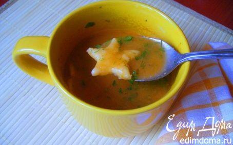 Рецепт Летний овощной суп-пюре с чесночно-сырными клецками