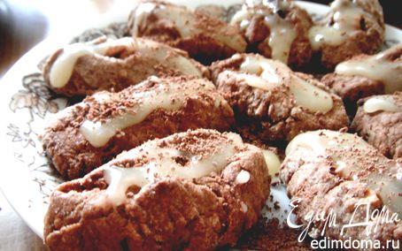 Рецепт Ореховое печенье со сливочной глазурью