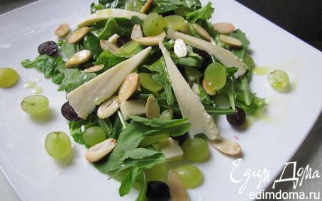 Рецепт Салат с сыром и виноградом
