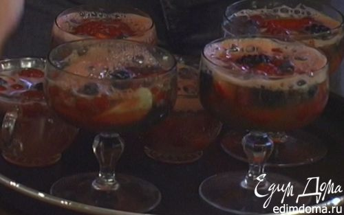 Рецепт Фруктовое желе с шампанским