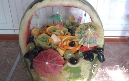 Рецепт Корзинка фруктового изобилия