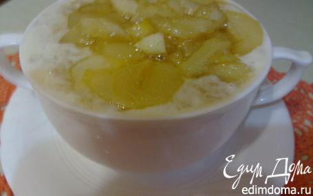 Рецепт Молочный овсяный суп с грушей