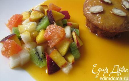"""Рецепт Завтрак """"Оранжевое настроение"""" с ванильным соусом"""