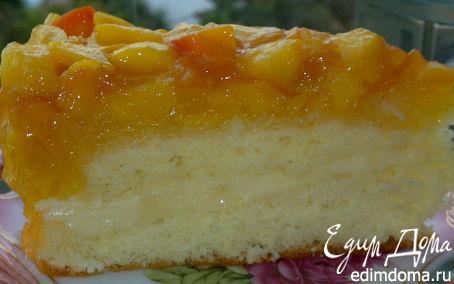 Рецепт Торт бисквитный с манго и нектаринами