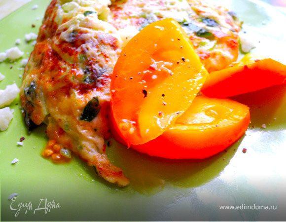 Фриттата с кабачком и сыром
