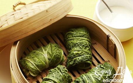 Рецепт Паровые голубцы из пекинской капусты в пароварке