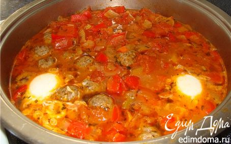 Рецепт Тушёные овощи с фрикадельками