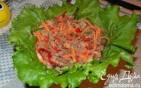 Рецепт Мясной салат с сырной заправкой