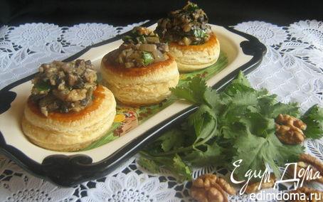 Рецепт Волованы с баклажанно- грибной начинкой