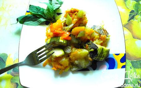 Рецепт Рыба под овощной подушкой в горшочке