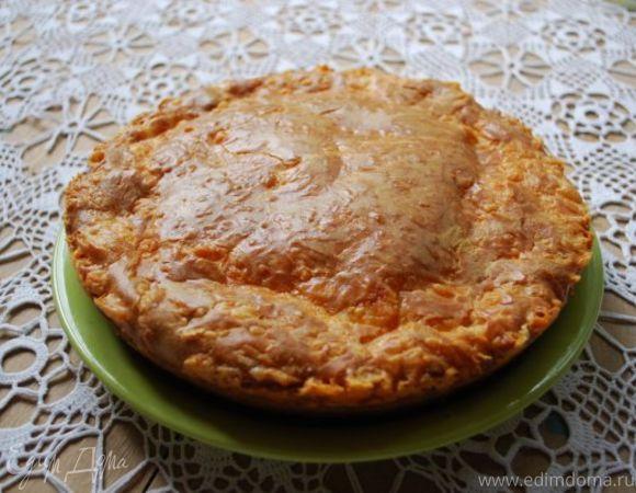 Пирог с начинкой из рыбных консервов