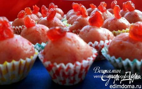 Рецепт Розовые марципановые конфеты
