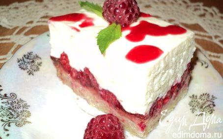 Рецепт Пирожное «Малина на снегу».