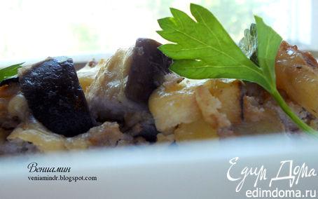 Рецепт Фриттата с картофелем, баклажанами и грецкими орехами