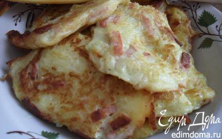 Рецепт Оладушки из кабачков с колбаской