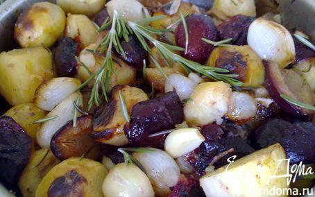 Рецепт Утка, запеченная со сливами и овощами