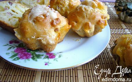 Рецепт Ветчинно-сырные маффины