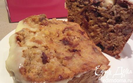 Рецепт Банановый пирог-хлеб с финиками и орехами пекан