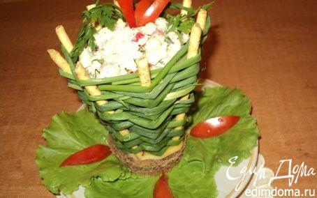 Рецепт Корзинка с салатом.