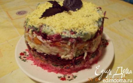 """Рецепт Салатный торт """"Закусочный"""""""