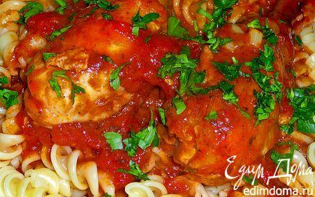 Рецепт Курица с томатами и чесноком