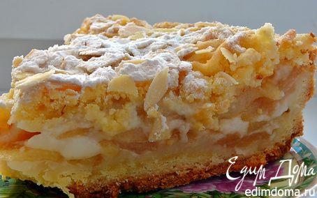 Рецепт Польский пирог (яблочный пирог с миндальной стружкой)