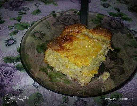 Слоёный пирог с капустой