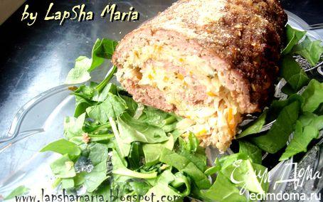 Рецепт Мясной рулет с начинкой из капусты