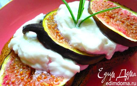 Рецепт Кростини с инжиром и козьим сыром