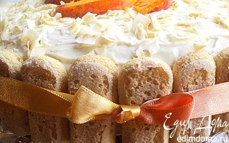 Рецепт Торт с творожно-фруктовой начинкой