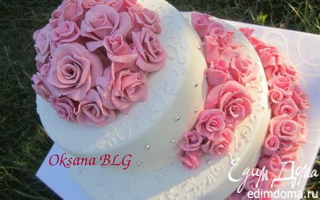 """Рецепт Торт """"Нежность"""" (свадебный тортик для моей сестренки:))"""