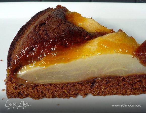 Шоколадно-грушевый пирог