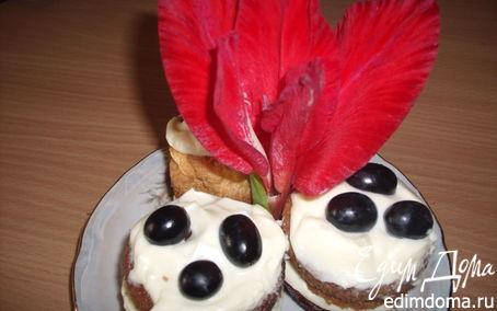 Рецепт Бисквитные кексики с маскарпоне
