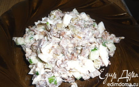 Рецепт Салат из куриной печени с грибами