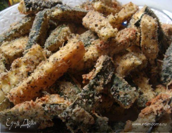 Запеченные палочки цукини с сладким луковым соусом