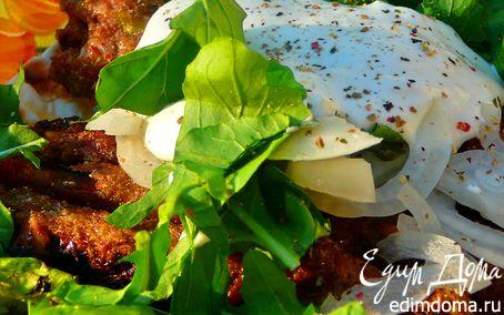 Рецепт Кебабы с фисташками на лаваше с салатом, на углях