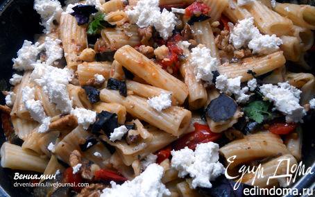 Рецепт Паста с баклажанами, фетой и грецкими орехами