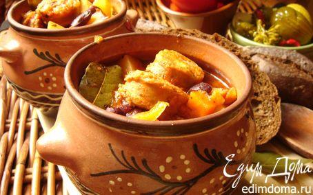 Рецепт Томатный айнтопф с чесночными колбасками