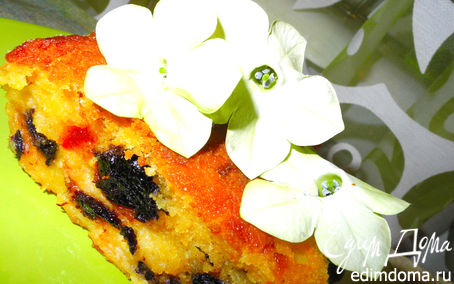 Рецепт Кукурузно-творожный пудинг-пирог с сухофруктами