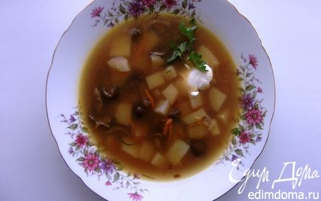 Рецепт Грибной суп с опятами