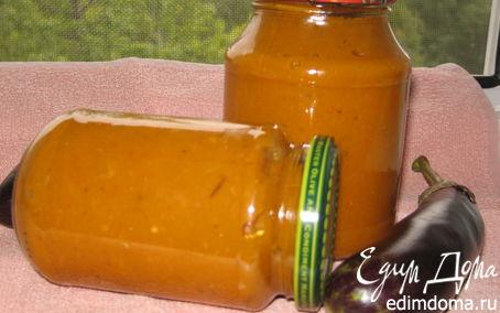 Рецепт Баклажанная икра из запеченных баклажан и перцев