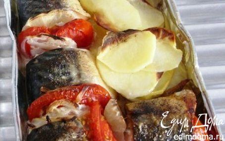 Рецепт Скумбрия запечёная с овощами