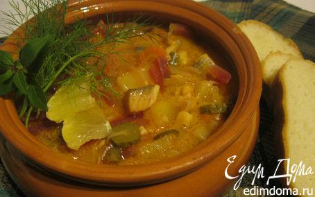 Рецепт Овощная солянка с рыбой.