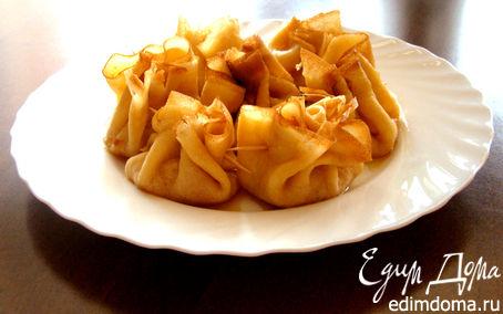 Рецепт Блинчики с карамелизованными яблоками