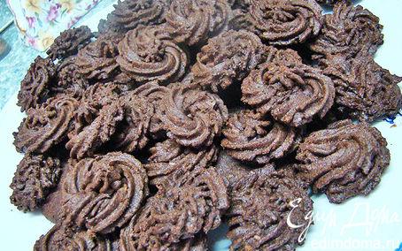 Рецепт Шоколадное печенье с кокосовой стружкой