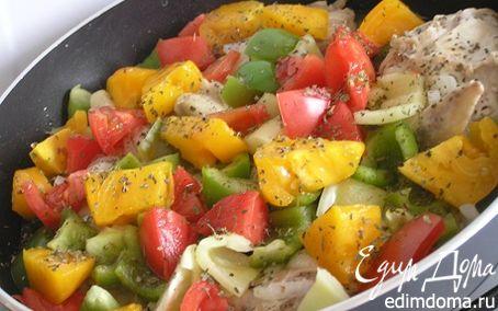 Рецепт Курица, тушенная с овощами