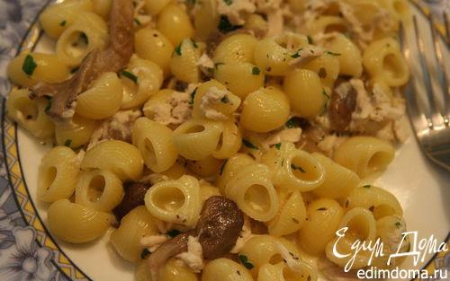 Рецепт Паста с грибами, цыпленком и сливочным соусом