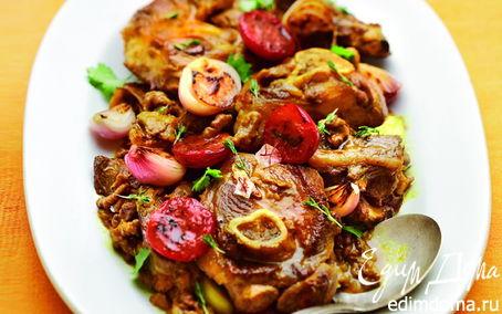 Рецепт Молодая баранина со сливами и грецкими орехами (рецепт от Юлии Высоцкой)