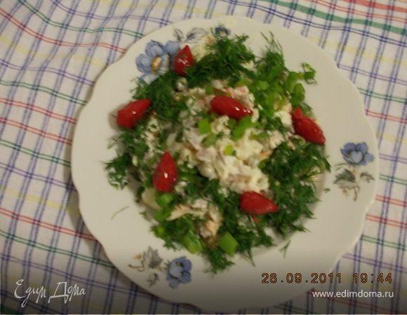 Импровизация на тему ОЛИВЬЕ с морковью,бужениной и зелёным луком