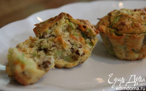 Рецепт Маффины с цукини, морковью и орехами пекан
